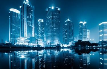 3D Ковер «Неоновые огни ночного города»