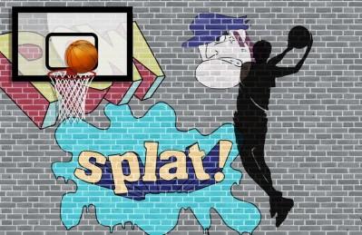 3D Ковер  «Уличный баскетбол»