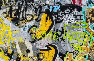 3D Ковер  «Роспись в ярко-жёлтых тонах»