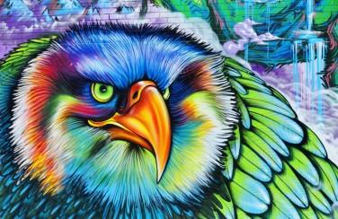 3D Ковер  «Хищный орел»