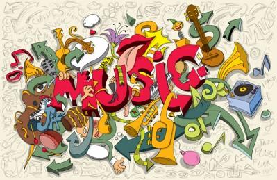 3D Ковер  «Музыкальный микс»