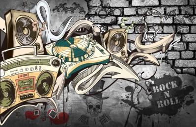 3D Ковер  «Музыкальное граффити»
