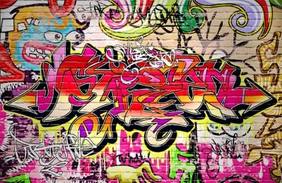 3D Ковер  «Сочное граффити»