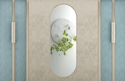 3D Ковер «Цветущая ветвь в зеркальном отражении»