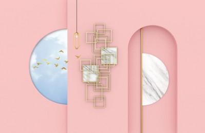 3D Ковер «Розовый баланс»