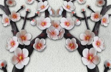 3D Ковер «Ветви сакуры»
