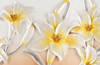 3D Ковер «Объемные лилии»