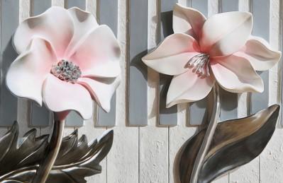 3D Ковер «Цветы на клавишах»