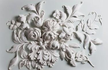 3D Ковер «Цветочная резьба»