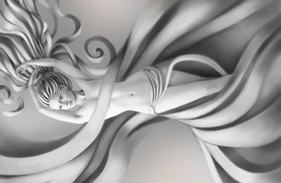 3D Ковер «Юная дева»