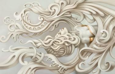 3D Ковер «Русалка барельеф»