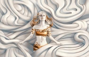 3D Ковер «Барельеф морская владычица»