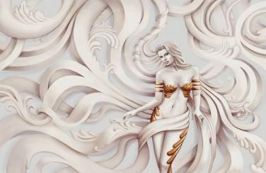 3D Ковер «Барельеф Сирена»