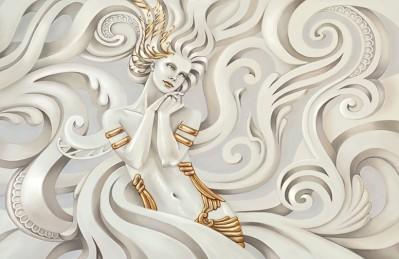 3D Ковер «Мечтающая богиня»
