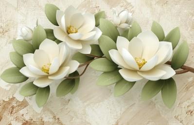 3D Ковер «Цветы жасмина»