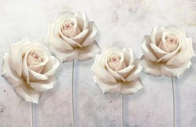 3D Ковер «Прекрасные розы на холсте»
