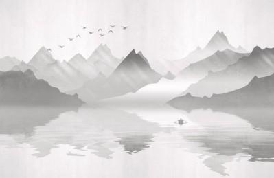 3D Ковер «Туманное озеро»
