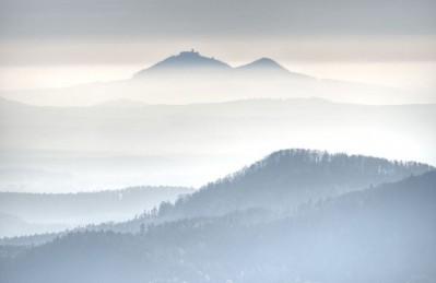 3D Ковер «Горы в туманной пелене»