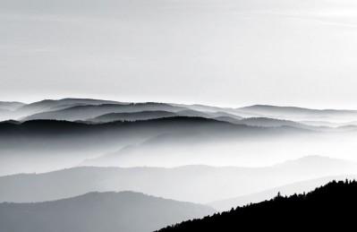 3D Ковер «Черно-белый пейзаж»
