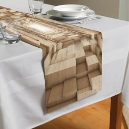 Сервировочная дорожка «Тоннель из древесных кубов»