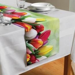 Сервировочная дорожка «Разноцветные тюльпаны»