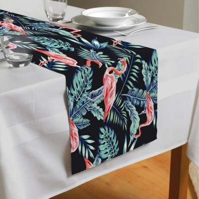 Сервировочная дорожка «Тропическая ночь.Фламинго»