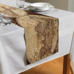 Сервировочная дорожка «Карта мира для кабинета»