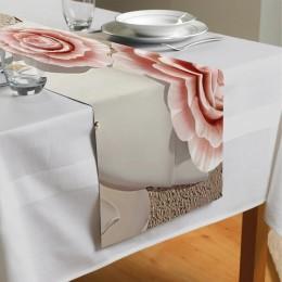 Сервировочная дорожка «Объемная композиция с бутонами роз»