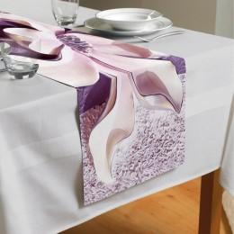 Сервировочная дорожка «Фиолетовые магнолии на рельефном фоне»