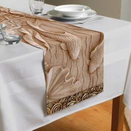 Сервировочная дорожка «Резьба по дереву в китайском стиле»