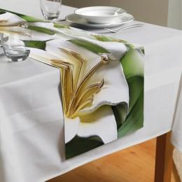 Сервировочная дорожка «Зеленые лилии из керамики»