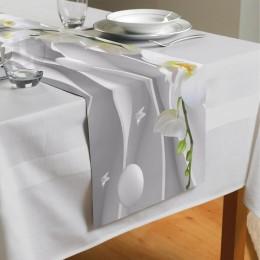 Сервировочная дорожка «Белая орхидея на объемном фоне»