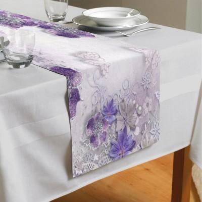 Сервировочная дорожка «Ювелирные фиолетовые цветы»