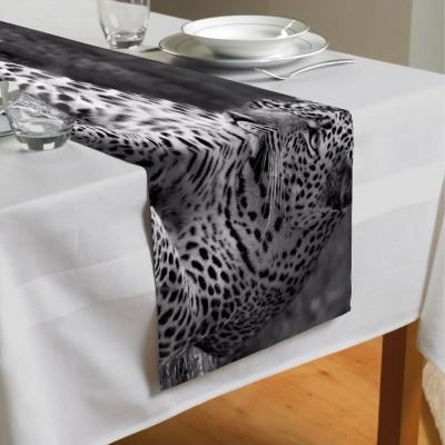Сервировочная дорожка «Черно белый леопард»