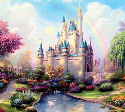 Фотошторы «Замок для детской»