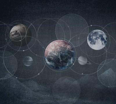 Фотошторы «Стильная галактика»