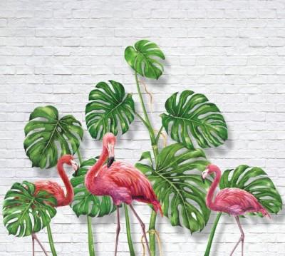Фотошторы «Фламинго с монстерами»