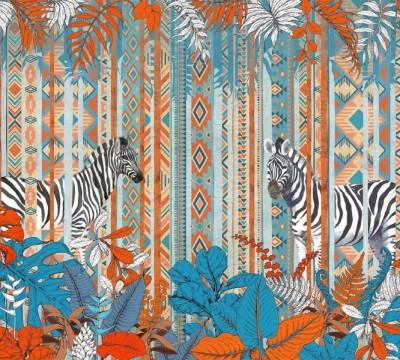 Фотошторы «Этнические зебры»