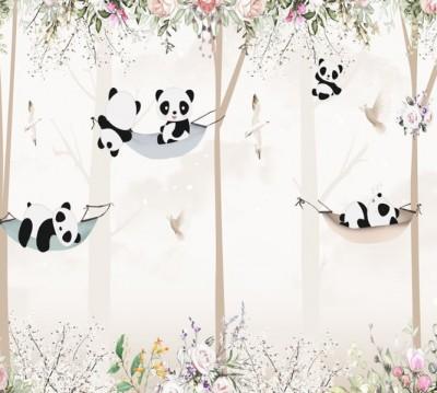 Фотошторы «Забавные панды»