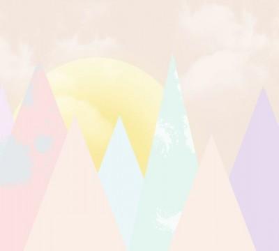 Фотошторы «Нежные горы для детской»