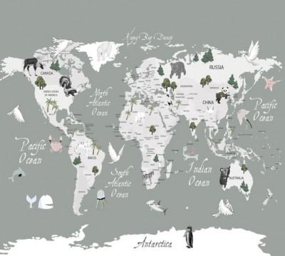 Фотошторы «Художественная карта на английском»