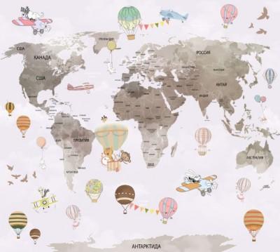 Фотошторы «Нескучная карта для детской»