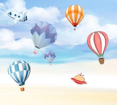 Фотошторы «Небесная фантазия с воздушными шарами»