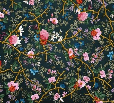 Фотошторы «Викторианский сад в темных тонах»