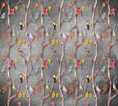 Фотошторы «Осенний этюд с птицами»