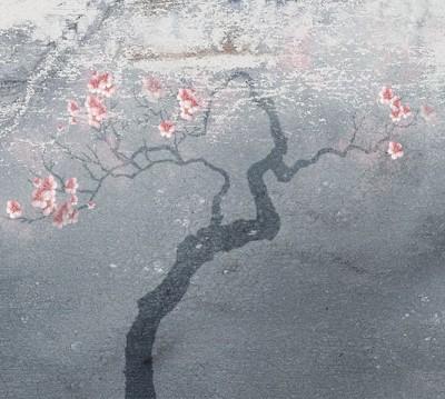 Фотошторы «Живописная сакура»