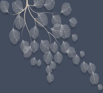 Фотошторы «Утончённая ветвь на аметистовом фоне»