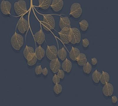 Фотошторы «Утончённая ветвь в сумерках»
