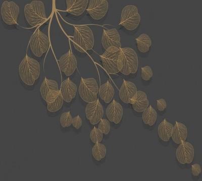 Фотошторы «Утончённая ветвь в коричневых тонах»
