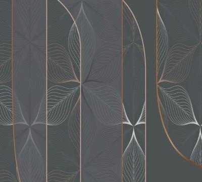Фотошторы «Цветочное кружево в оливковом оттенке»